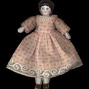 Antique Dollhouse Size China Head on Original Body