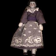 Miniature Antique China Head Doll on Original Body