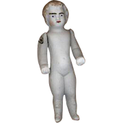 Antique Stone Bisque Doll with Molded Boots
