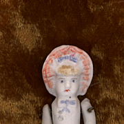 Miniature Antique Stone Bisque Bonnet Girl
