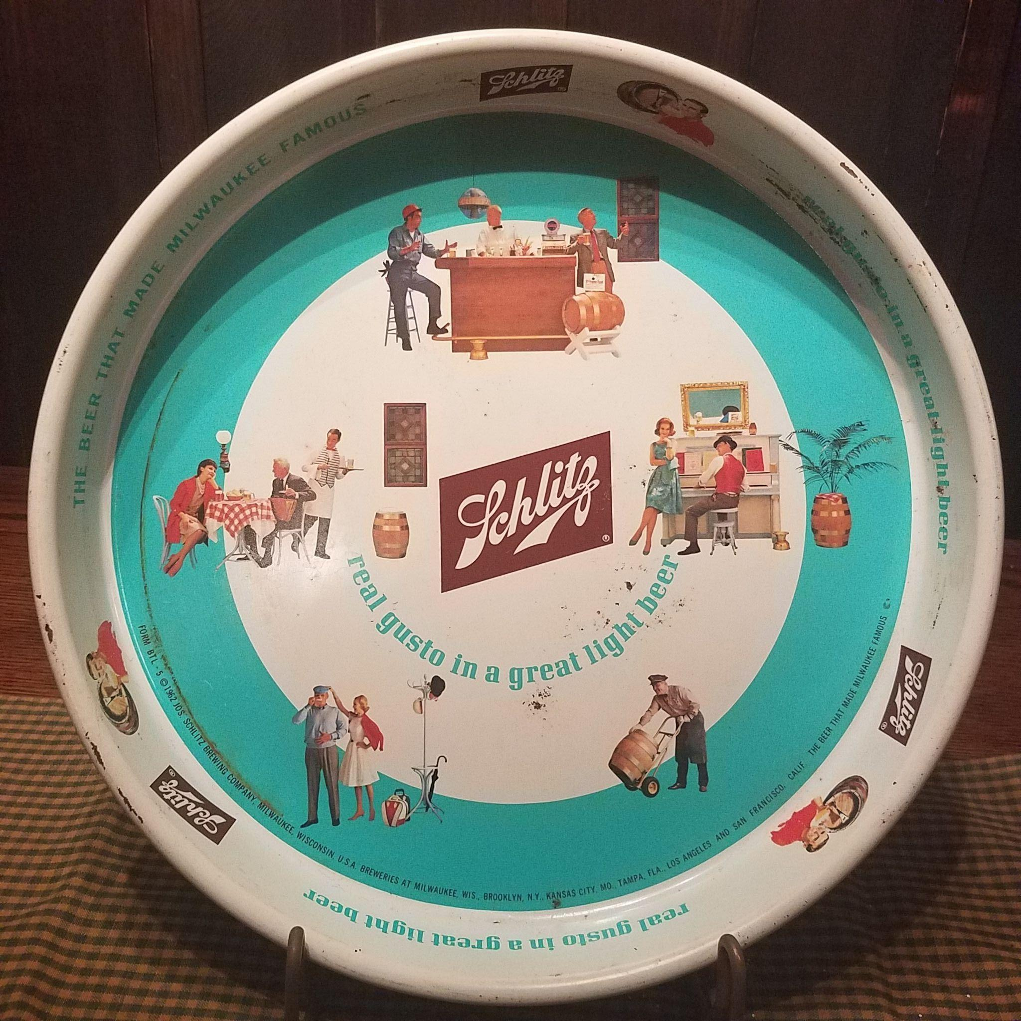 1962 Schlitz Beer Tray