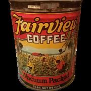 Fairview Coffee Tin 3 Pound Can