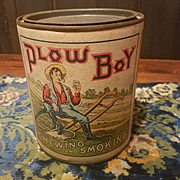 Plow Boy Tobacco Tin