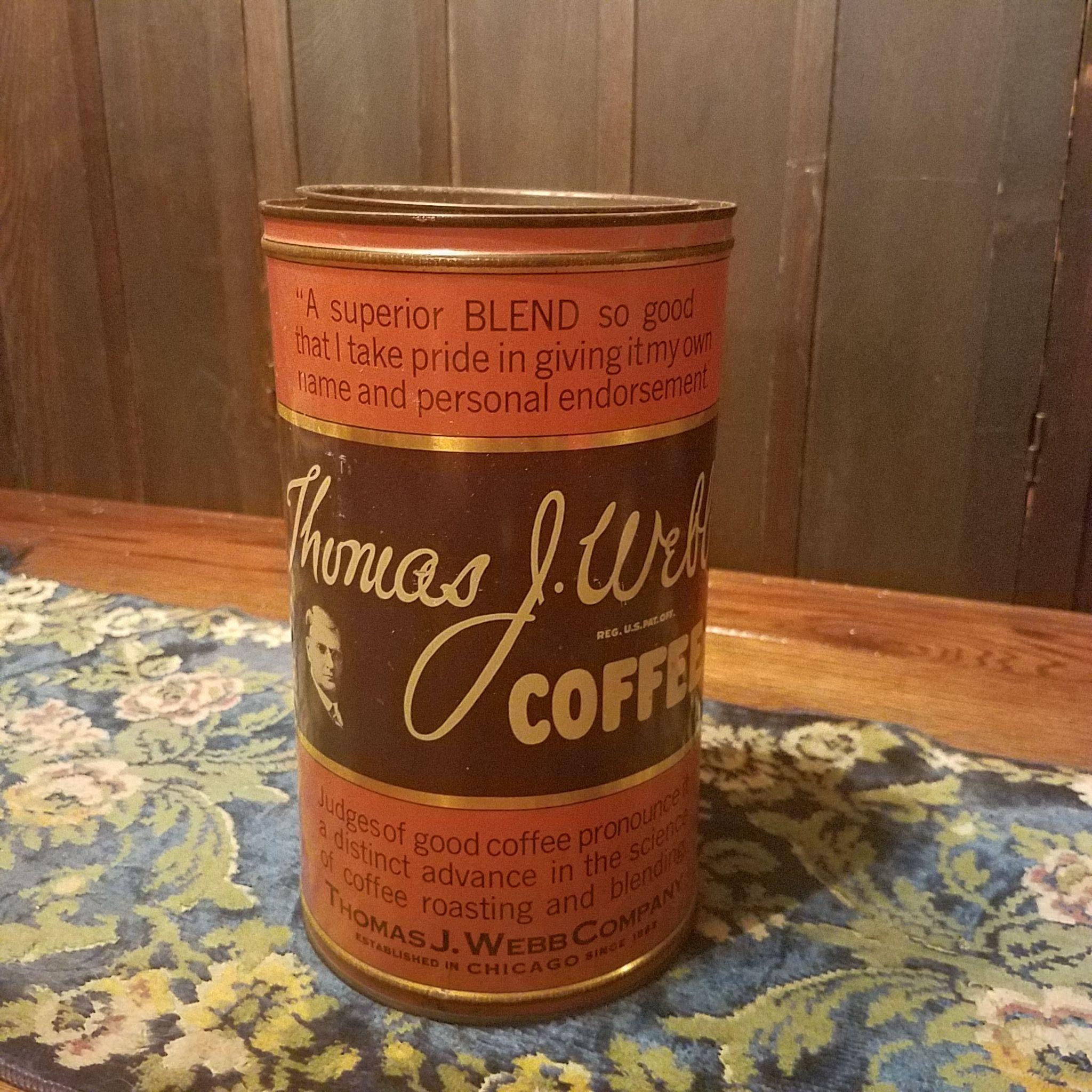 Thomas J Webb Coffee Tin
