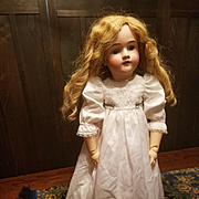 Vintage White Cotton Doll Dress with Slip