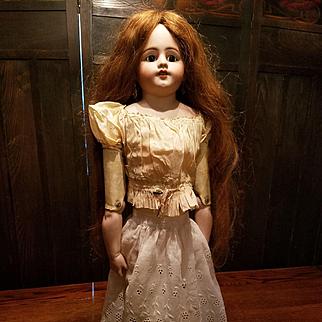 Antique White Cotton Eyelet Doll  Slip or Skirt