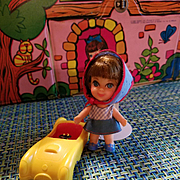 Liddle Kiddle Babe Biddle with her Car