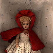 Hard Plastic Duchess Doll in Vintage Crochet Clothes