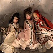 Set of Three  Miss Tastee-Freez Dolls in Their Original Clothes
