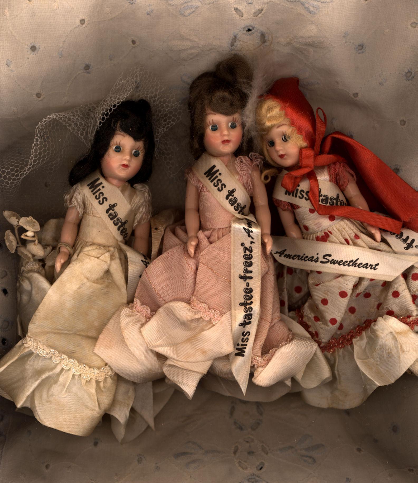 Set of Three  Miss Tastee-Freez Dolls in Their Original Clothes