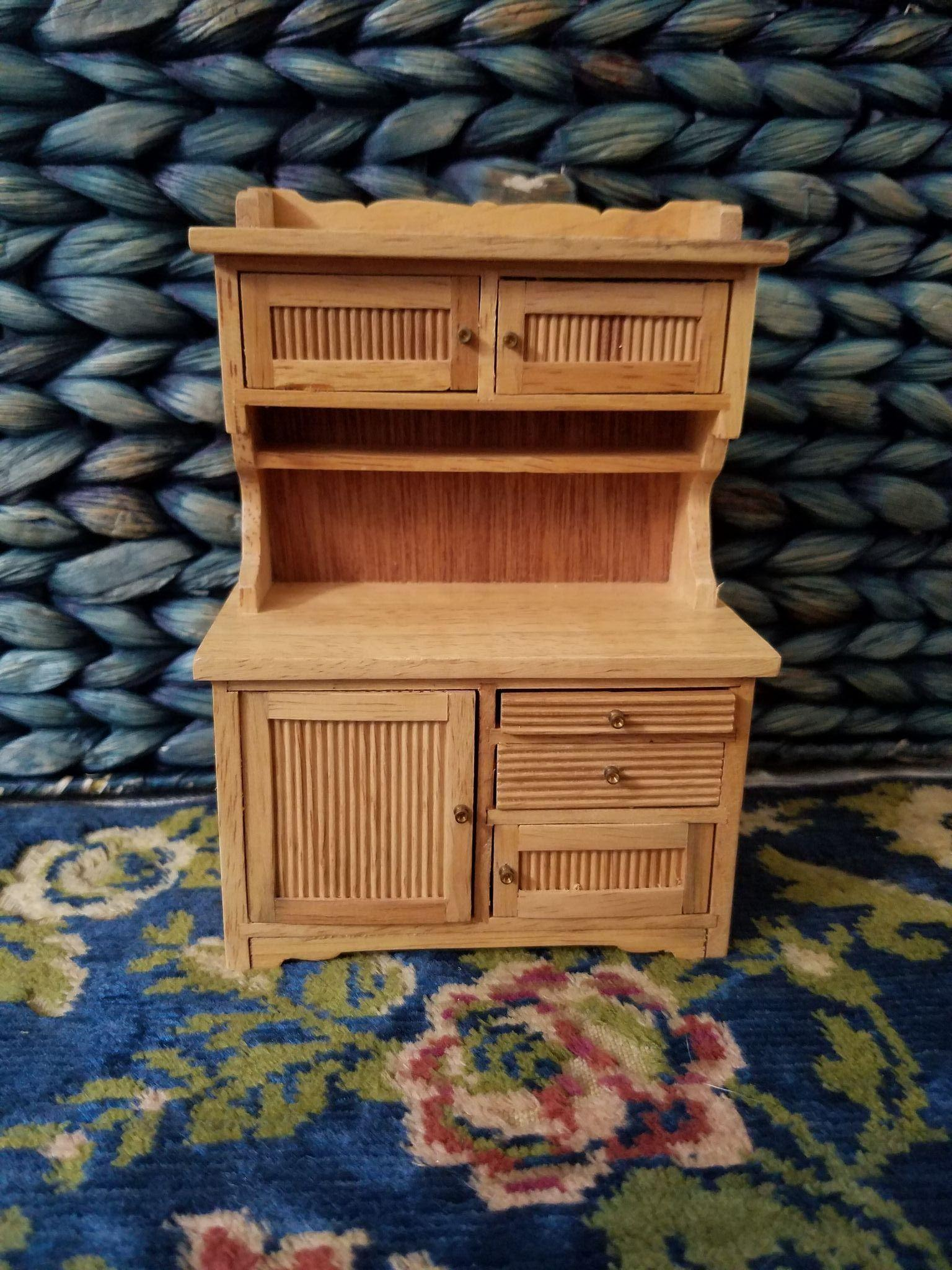 Vintage Wooden Dollhouse  Cupboard