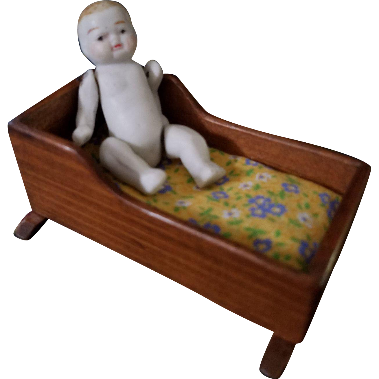 Vintage Toncoss Dollhouse Cradle