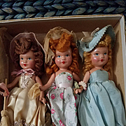 Set of 3 Painted Bisque Daisy Dolls