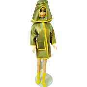 Vintage Space Age Style Raincoat for Barbie