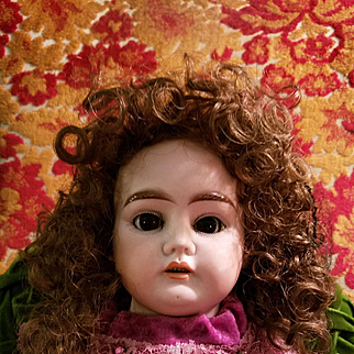 Vintage Synthetic Doll Wig in Curls
