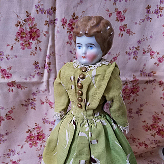 Antique China Head with Rare Light Brown Hair