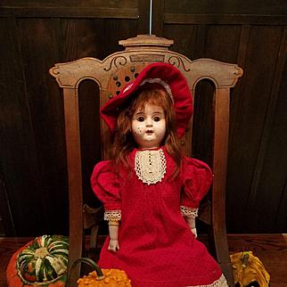 Antique Minerva Metal Head Doll