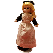 Antique Bisque Lily Name Doll in Original Maid Clothing