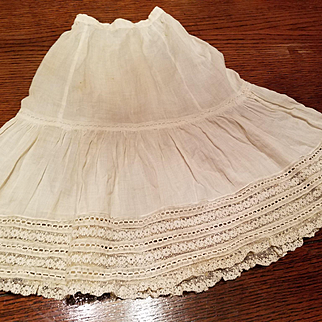 Large Antique Doll Slip with lace