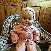 Composition Baby Darling in Vintage Wool Snowsuit