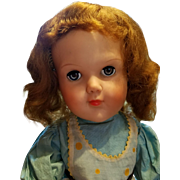 Large 1950's Character Child Doll in Original Dress