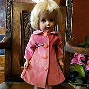 Vintage Pink Velvet Doll Coat