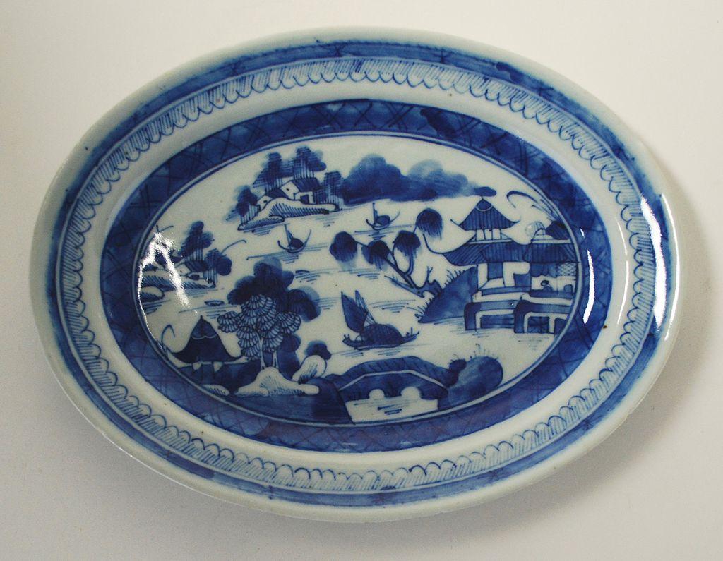 Antique: Canton Platter: Porcelain