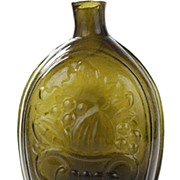 Antique Glass Flask, Cornucopia-urn
