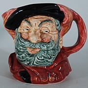 Porcelain Falstaff Jug, 1949, Royal Doulton, Vintage