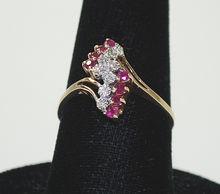 Vintage Ladies Ruby / Diamond Ring, 10K Gold