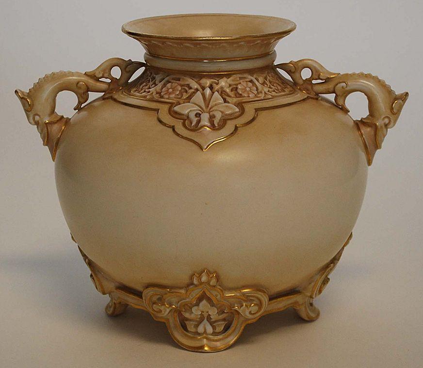 Antique Royal Worcester Porcelain Vase