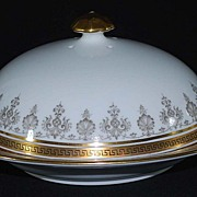 Antique Tiffany Porcelain Cheese Dish