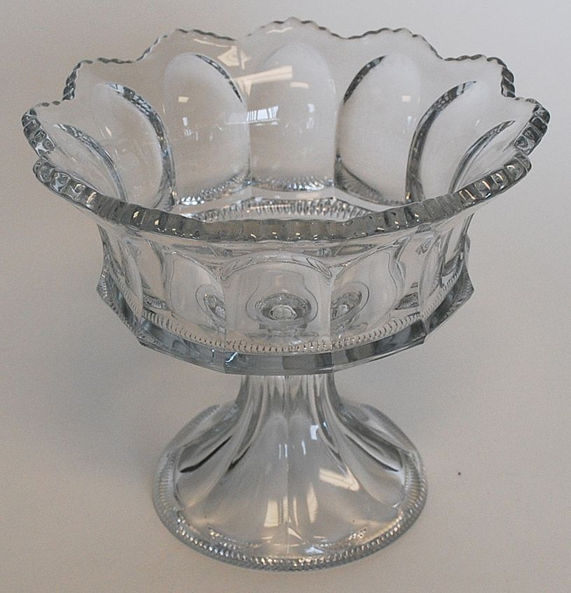 Heisey Compote, Signed, Vintage