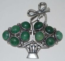 Sterling Silver Brooch Mexico, Vintage