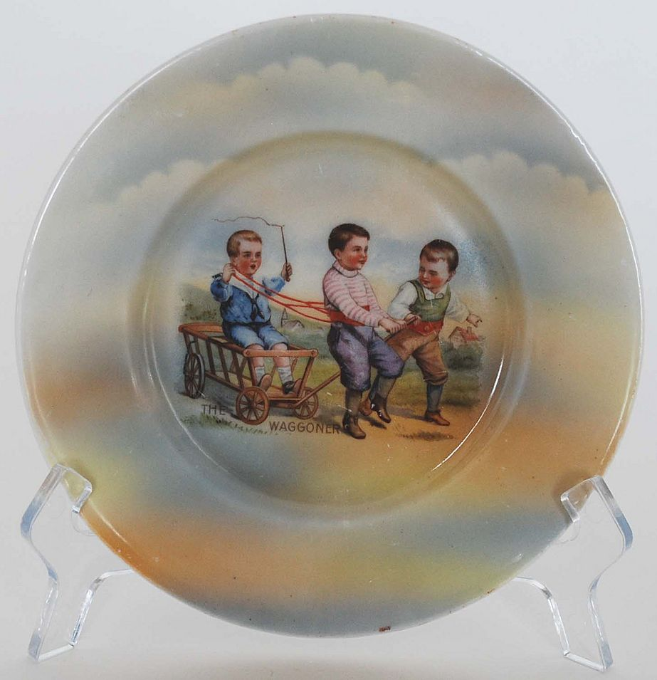 Child's Plate, The Waggoner, Transferware, Vintage