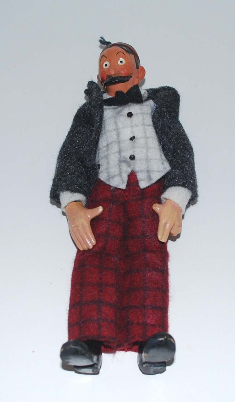 Vintage Comic Character Doll, Mutt & Jeff: Jeff, by Bucherer