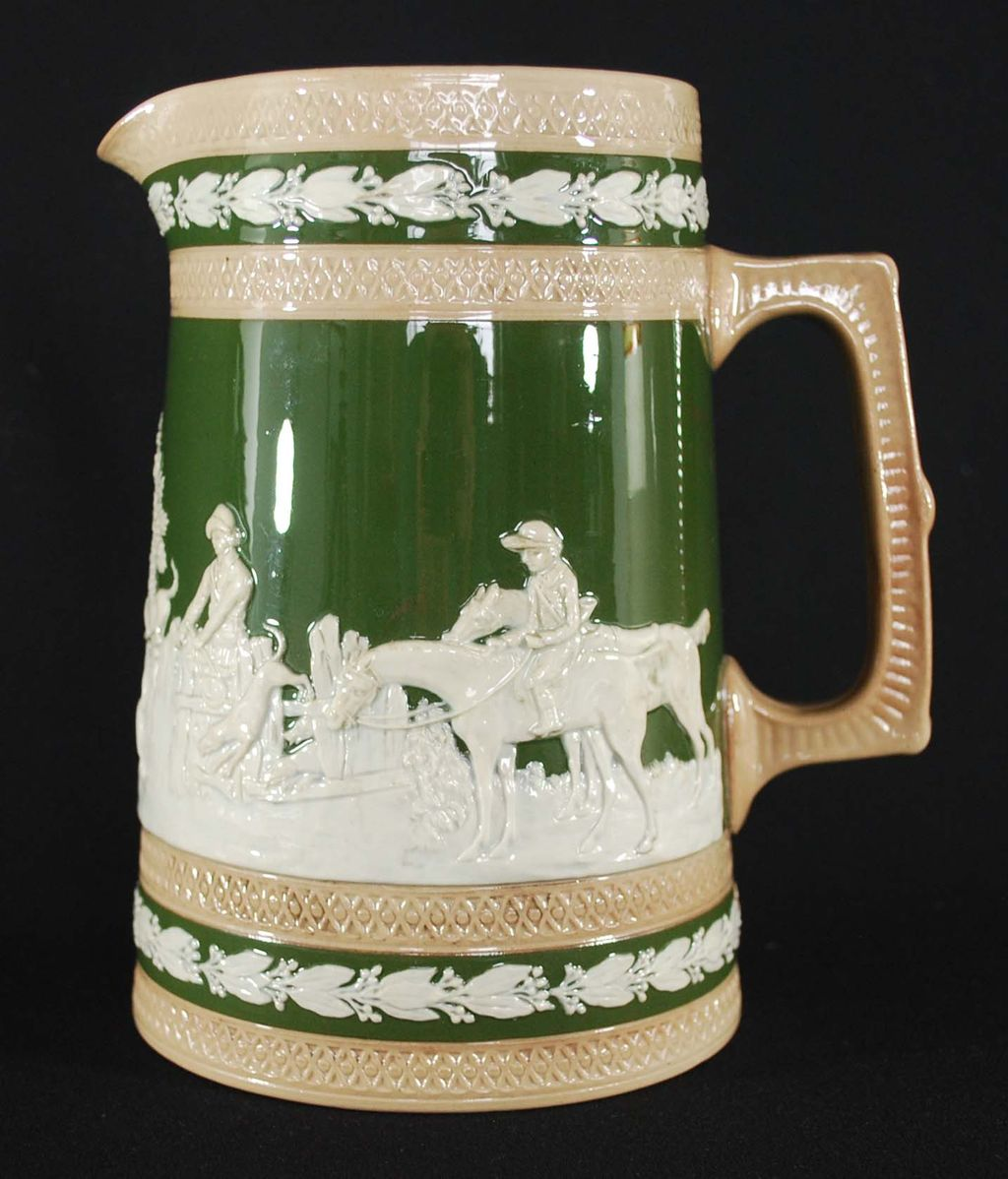 Antique Spode Pitcher, Pottery, late 1800's
