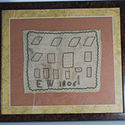 Antique Custom Framed Sampler