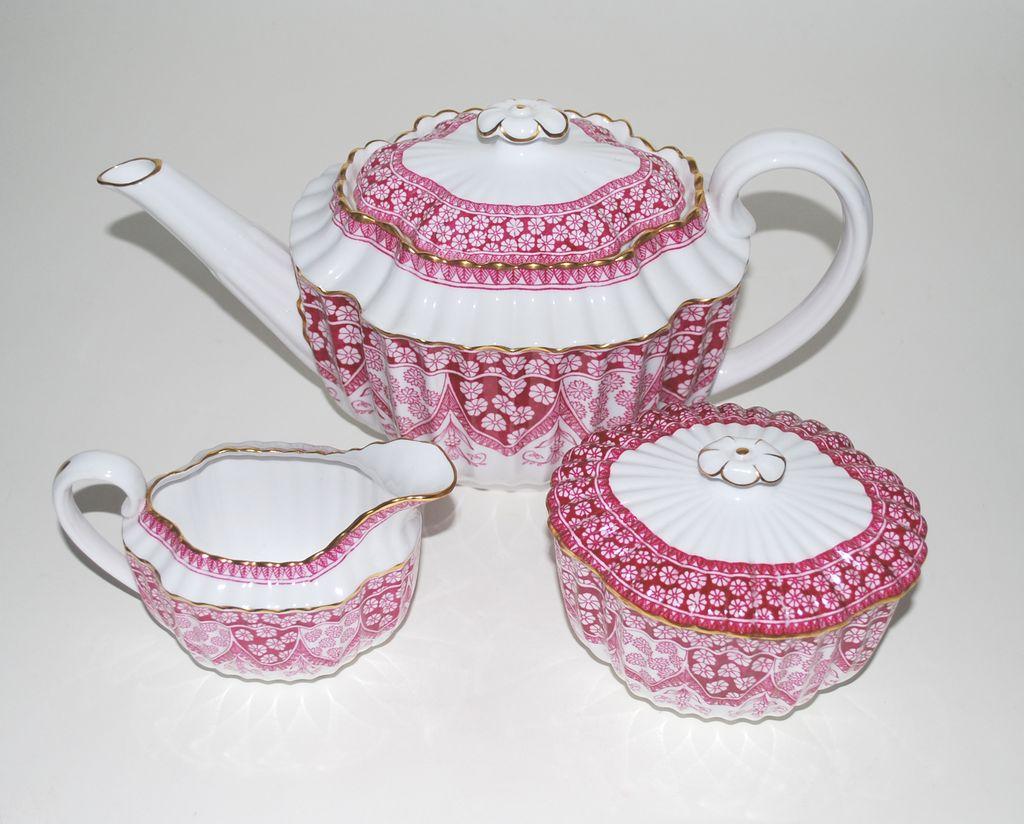 Spode China – Tea Pot, Creamer and Sugar - Vintage