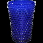 Vintage Royal Blue Hobnail Flip Vase by Fenton