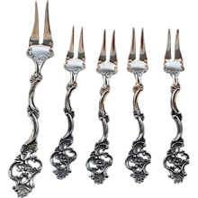 Vintage Sterling Silver Hors D'oeuvre Set, Norway