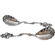 Vintage Norway Sterling Silver Serving Spoons, Set of Two