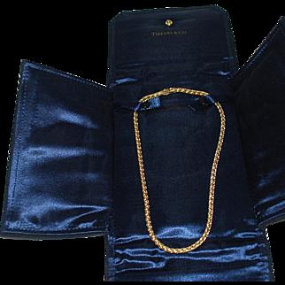 Vintage 14 Karat Gold Woven Chain – Tiffany & Co.