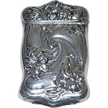 Antique Silver Plate Match Safe, Bristol Silver
