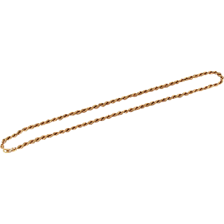Vintage 18K Gold Roped Chain