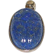 Vintage Lapis Scarab Pendant