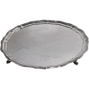 Antique Sterling Silver Tray, Handmade