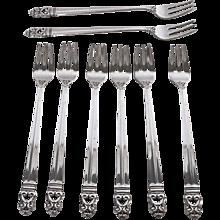 Vintage Sterling Silver Seafood Forks-International Silver