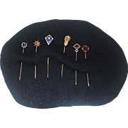 Antique 14K Gold Stick Pins-Six (6)