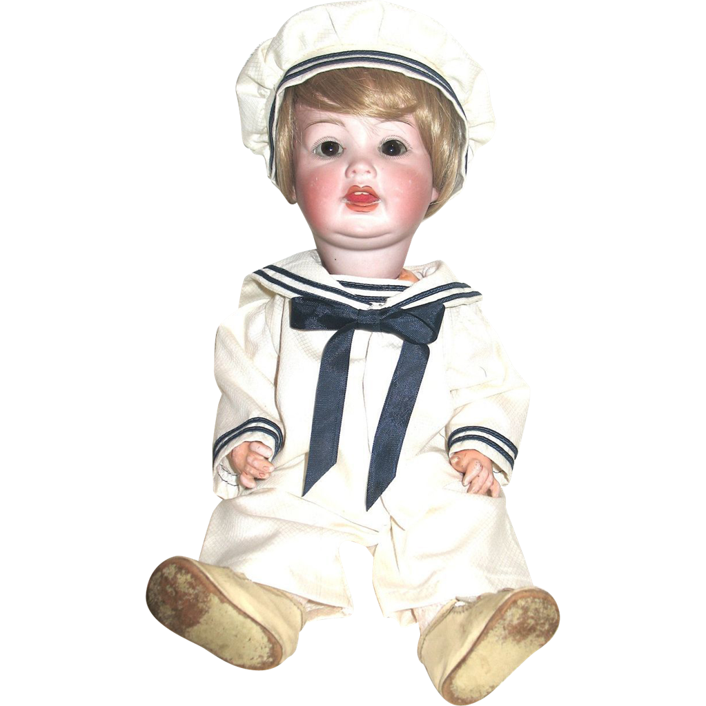 "SALE--Rare German P.M. Character Toddler 14"" Doll"